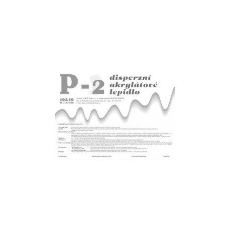 Disperzní akrylátové lepidlo P-2